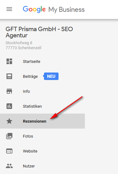 Google My Business Rezensionen