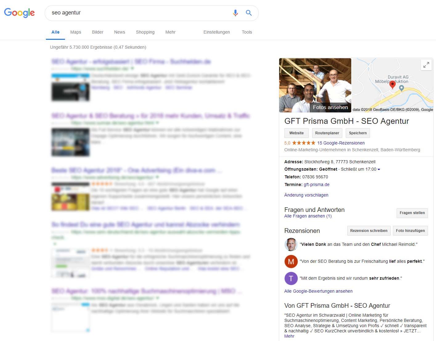 Google My- Business - Suche